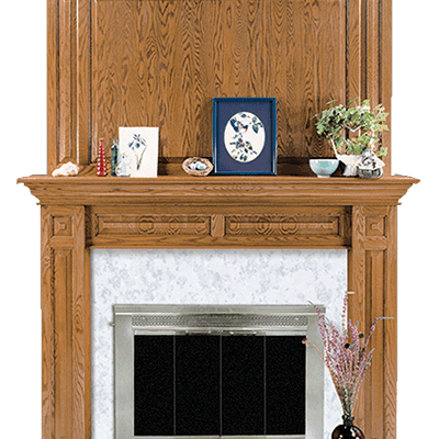 edgewood fireplace mantel